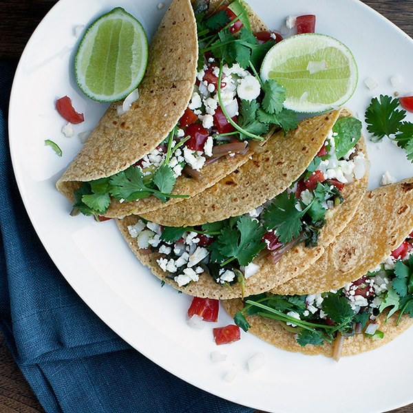 Tacos with Greens and Salsa Verde